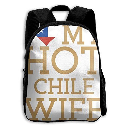 ADGBag Children's I Love My Hot Chile Wife Backpack Schoolbag Shoulders Bag For Kids Mochila para niños