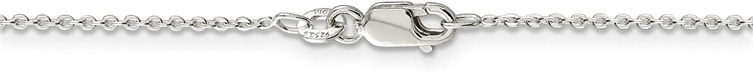 .925 Sterling Silver Flat Link Cable Chain OFFicial mail order Bracelet Great interest Necklace or