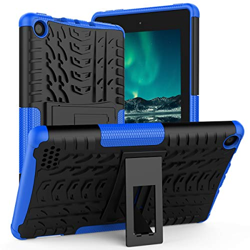 ROISKIN Dual Layer Heavy Duty Shockproof Impact Resistance Protective Case with Kickstand Compatible with Fire 7 Case 2019 Release 9th Gen, 2017 Release 7th Generation