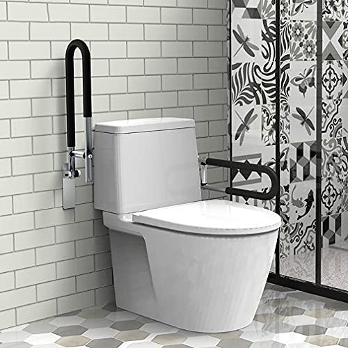 YLJXXY 2 Piezas Barra Aleación de Aluminio para Baño, Barra Abatible Baño WC, Adaptado a Personas Mayores y con Minusvalías, 60CM