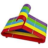ZYBUX - Children's Hanger Plastic Tubular Kids Hangers Non Slip Clothes Hanger Multicolour for Kids Babies - 20 Pack (COLOUR MAY VARY)