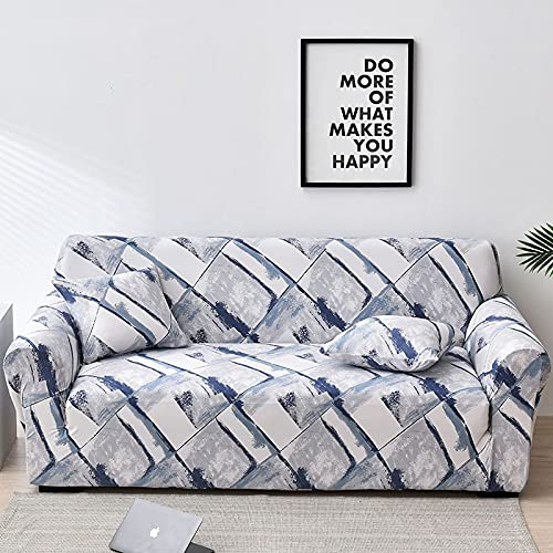 WXQY Fundas de Tela Escocesa elástica elástica Funda de sofá Antideslizante Funda de sofá para Mascotas Esquina en Forma de L Funda de sofá Antideslizante A2 4 plazas