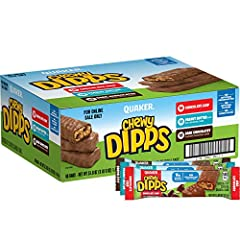 This product is shipped in Quaker bulk shipping packaging, not retail packaging Includes 48 individually wrapped chocolated dipped granola bars you can enjoy at home, at school, or on the go Features 22 chocolate chip, 22 peanut butter chocolate chip...
