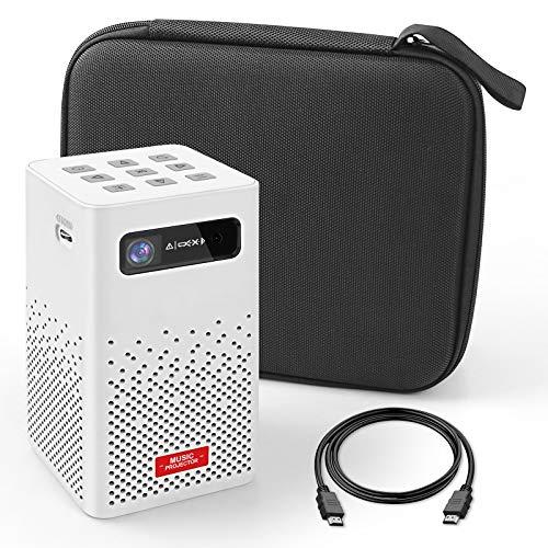 Mini Beamer, tragbarer projektor, kompatibel mit 1080P- und 150-Zoll-Bildschirm, Filmprojektor, der den Bildschirm mobiler Geräte reproduzieren kann, kompatibel mit HDMI, USB, iOS / Android-Smartphone