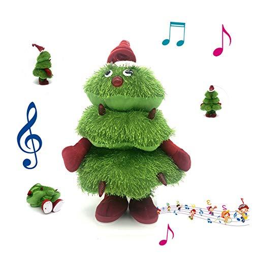 Albero di Natale che canta e balla, bambola dell'albero di Natale Bambola in peluche alimentata a batteria, per la decorazione dell'albero di Natale Forniture per feste Ornamento regalo (ballare)