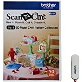 Brother ScanNCut CAUSB4 No. 4 3D Paper Craft Pattern Collection (USB Stick), Divers, 1