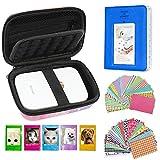 Cpano Conjunto de Accesorios para HP Sprocket Impresora portátil de Fotos/Polaroid Zip Caja de Funda Protectora para Impresora móvil. (Galaxia)