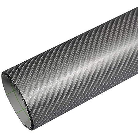 Rapid Teck 5 26 M Premium 4d Carbon Silber Grau 2m X 1 52m Auto Folie Blasenfrei Mit Luftkanälen Für Auto Folierung Und 3d Bekleben In Matt Glanz Und Carbon Autofolie Küche
