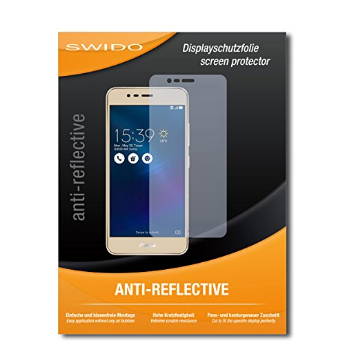 SWIDO Schutzfolie für Asus Zenfone 3 Max (ZC520TL) [2 Stück] Anti-Reflex MATT Entspiegelnd, Hoher Festigkeitgrad, Schutz vor Kratzer/Bildschirmschutz, Bildschirmschutzfolie, Panzerglas-Folie