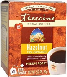 Teeccino ハーバルコーヒー ヘーゼルナッツ ミディアムロースト(カフェインフリー)(10ティーバッグ x 3箱)[海外直送品] [並行輸入品]