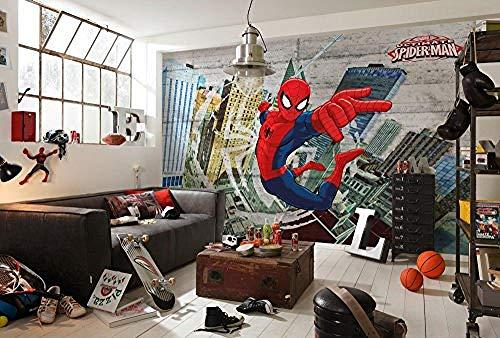 Zbzmm Mural Wall Art Muursticker voor WallMarvel Spider-Man Betonbehang Fotobehang Vinyl Multi kleuren
