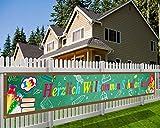 HOWAF Herzlich Willkommen Schulanfang Banner für