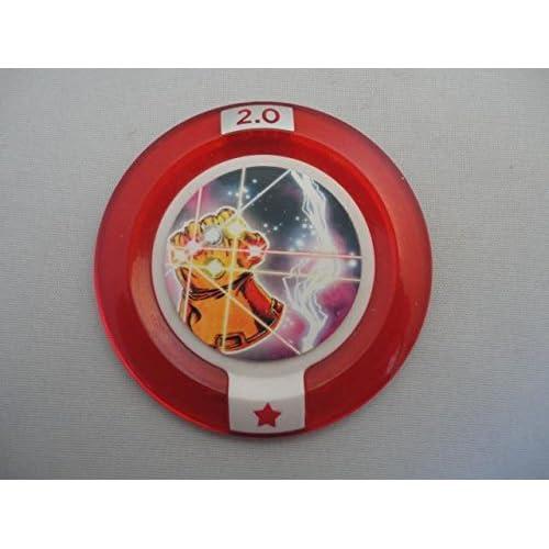Disney Infinity 2.0 Gettone Extra Power - Marvel - Infinity Gauntlet - Raro Rosso Disco