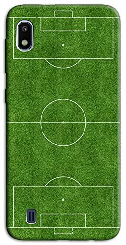 Mixroom - Cover Custodia Back Case in TPU Silicone Morbido per Samsung Galaxy A10 SM-A105M Fantasia Campo da Calcio H127