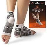 Treat My Feet - Calcetas para la Fascitis Plantar y Fundas de Compresión para los Pies: Medias Registradas por la FDA para Talones, Tobillos Grande