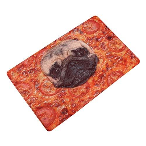 LLiopn Sothread Soft Non-Slip Rectangle Cute Dog Printed Carpet Mats Bath Decor Area rug (D) 15.7x23.6 inch