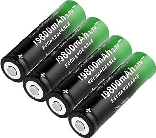 18650 3 7 V 19800 Mah Li-Ion Batterij Oplaadbare Lithium Batterijen voor Zaklamp Koplamp Elektronische 4 Stks