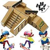 vap26 ABS Fingerboard Ramp Set Mini Finger Skateboard Park Kit Niños Finger Toy