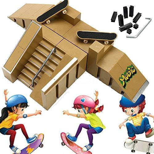 Dedo de monopatín Mini Kit Finger Skate Park Kit de rampa de piezas para Finger monopatín Parques Ultimate Rampas Skatepark del Patin Dedo Monopatin del Dedo Fingerboards Parques Tablero Juguete
