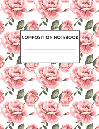 Composition Notebook: Just Rosy, Cute Blank Journal, Colorful School Supplies, Sea Themed Writing Book, College Ruled
