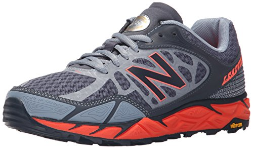 New Balance Mujer Leadvillev3 Trail Shoe, Grey/Orange, 35 C/D EU