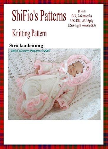 Strickanleitung  – KP60 -  Baby Jacke, Hose und Hut, 2 Größen