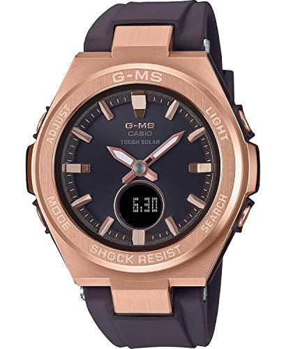 Casio G-MS Women's MSGS200G-5A Tough Solar Watch Pink Gold/Black