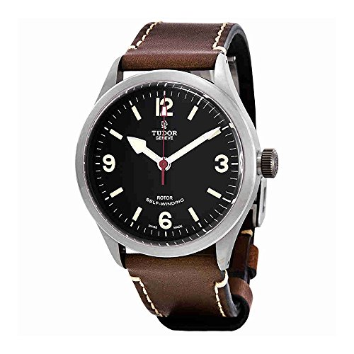 Tudor Heritage Ranger automatico quadrante nero Mens Watch 79910-0007