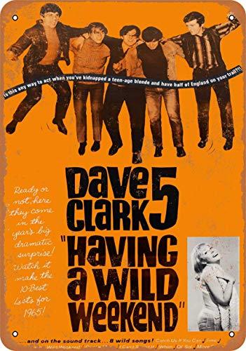 Shimaier 20×30cm 金属ブリキ看板ホーム装飾壁アート 1965 Dave Clark 5 Having a Wild Weekend