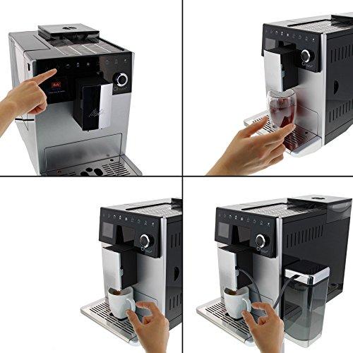 Melitta Caffeo CI Touch F630-101 Kaffeevollautomat mit Milchsystem I Flüsterleises Mahlwerk I Touch Funktion I 1,8l Wassertank I silber - 2