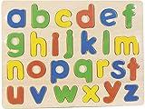 NATURPLAY Puzzle Madera Letras Minúsculas 26 Piezas 30x23cm.
