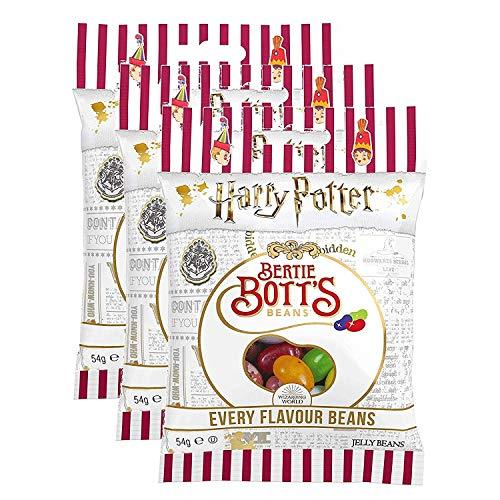 Lot de 3 paquets Jelly Belly Bean Boozled Harry Potter Bertie Bott's 54g (validé UE)