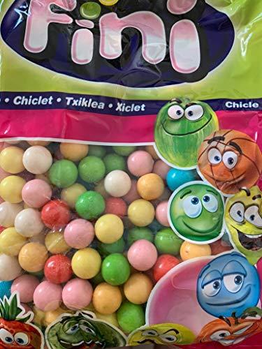 Nachfüllpack Gum Ball Maschinen von Fini Kaugummi bunt glänzend + Testpack Jelly Belly Beans