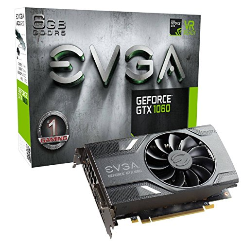 EVGA GeForce GTX 1060 GAMING, ACX 2.0 (Single Fan), 6GB GDDR5, DX12 OSD Support (PXOC) Grafikkarte 06G-P4-6161-KR