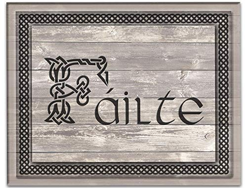 Fáilte Wall Art 14'x11' Irish Welcome Saying Unframed Print. Celtic Blessing For Any Irish Bar or Home. Entrance, Living Room or Kitchen Wall Decor for All Lovers of Ireland. Ideal Housewarming Gift