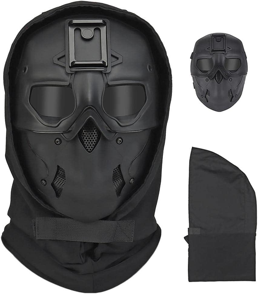 Casco integral para airsoft con diseño de calavera, para Halloween, para fiestas o cosplay, color negro
