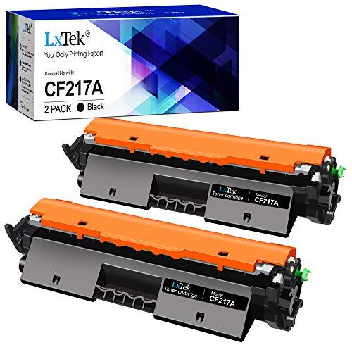 LxTek 17A Compatible para HP CF217A 17A Cartuchos de tóner para HP Laserjet Pro M102a M102W HP Laserjet Pro MFP M130fw M130nw M130fn M130a (2 Negro, con Chip)
