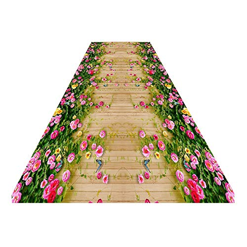 Rug 3D Running Carpet , Indoor and Outdoor Decorative Aisle Carpet 60x100cm Carpet (Size : 1.2x3m)