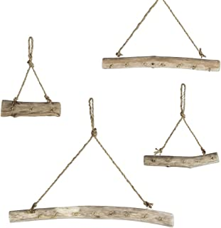 Koyal Wholesale Driftwood Jewelry Holders, Set of 4 Jewelry Hangers, Wall Mounted Boho Jewelry Display, Gallery Wall Decor, Organizer, Storage, Stand for Your Necklaces, Bracelets, Earrings, Keys