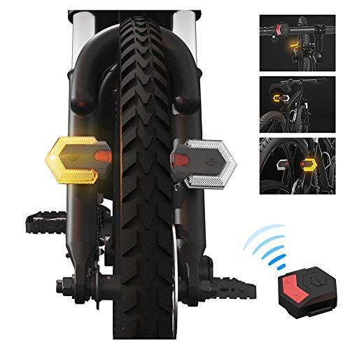 XYY Luz Trasera de Bicicleta Recargable USB, Control inalámbrico, Impermeable de IPX-x6, para Cualquier Bicicleta de Carretera