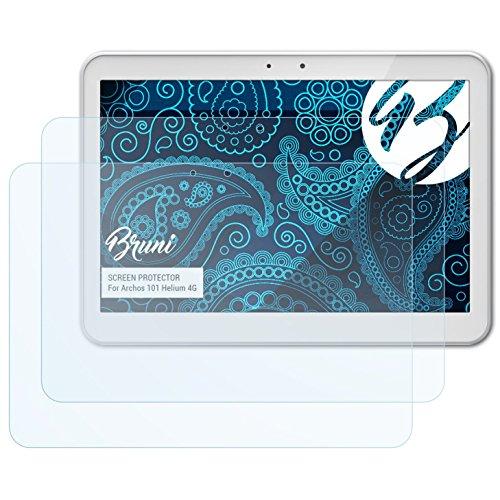 Bruni Schutzfolie kompatibel mit Archos 101 Helium 4G Folie, glasklare Bildschirmschutzfolie (2X)