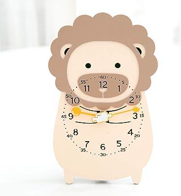 CXQ Reloj Infantil de Dibujos Animados Lindo león Moderno Minimalista Creativo Reloj silencioso