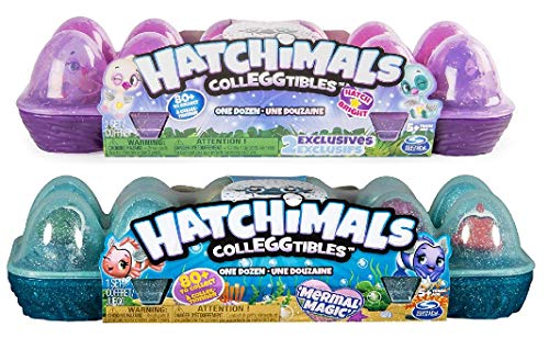 Hatchimals CollEGGtibles Season 4, 12 Pack Egg Carton & Hatchimals CollEGGtibles Season 5, 12Pack Egg Carton (Styles and Colors May Vary) Including Blizy Maze Pen.