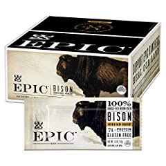 SAVORY SNACK BAR: a perfect on-the-go snack featuring bison, bacon and cranberries with 7 grams of protein per serving CONVENIENT: EPIC Meat Bars are the perfect mid-day or afternoon snack to keep on-hand. HORMONE FREE: Animals never treated with gro...