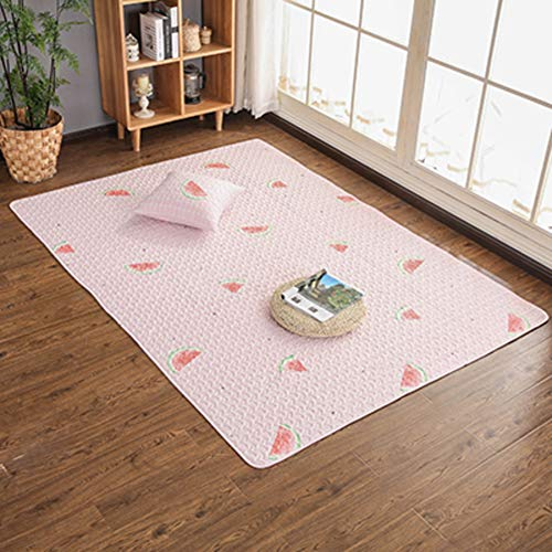 XJ&DD Zusammenklappbar Baumwollteppich Schlafzimmer Bereichs-wolldecke Kinder Kriechender Teppich Waschmaschine Gewaschen Teppich Non Slip Teppich Kinder Spielmatte-l 110x160cm(43x63inch)