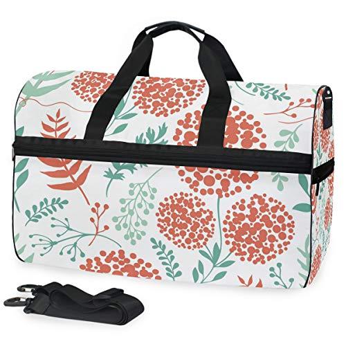 Reisetasche mit Löwenzahn-Blättern für Damen und Herren