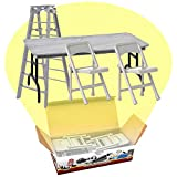 ULTIMATE Ladder, Table & Chairs Silver Playset for WWE Wrestling Action Figures