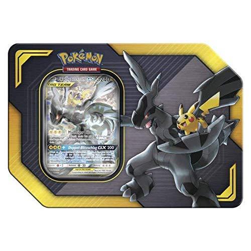 Lively Moments Pokemon Karten Tin Box Tag Team Pikachu & Zekrom - GX DE Deutsch Promo Sammelkarten / Metallbox