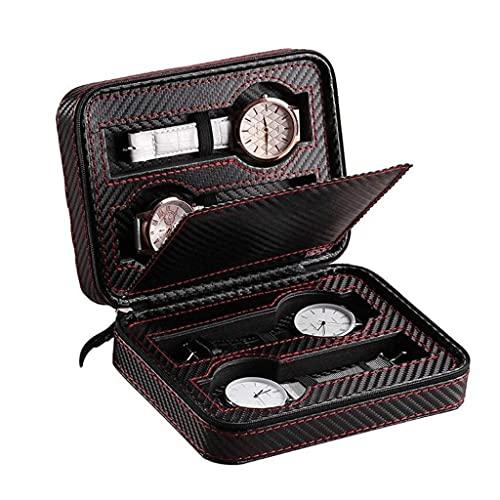 Cakunmik Reloj Gabinetes y Estuches Reloj Bolsa portátil, baratijas Caja de Cremallera Caja de Cremallera Caja de Reloj de Fibra de Carbono