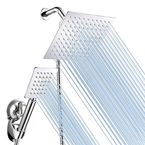 Baban Rainfall Shower Head/Handheld Combo, Stainless Steel